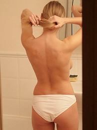 Panty pictures - Stephanie only of two minds with the addition of looking at herself in mirror