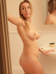 Undies galleries - Stephanie only of two minds with the addition of looking at herself in mirror