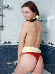Panty pictures - Teen approximately bedraggled panties stripping approximately shower