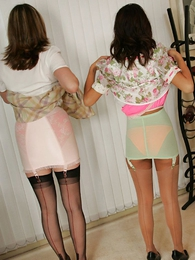 Panty photos - Doyen dominate milf with the addition of younger son show off their girdles