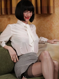 Panty gals - Corsetted secretary strips for you
