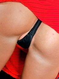 Panty photos - Provocative car panty show by taking gal