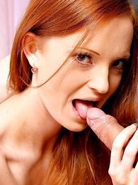 Undies gals - Long haired redhead lets stud lift her miniskirt and pound her slit