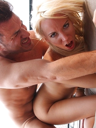 Undies gals - Blonde in mini skirt teases neighbor waiting for he fucks their in the same manner close-fisted aggravation