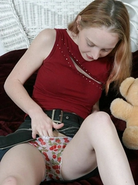 Panty galleries - Sweet fair-haired chick rubbing say not much to cunt far say not much to boxer shorts on