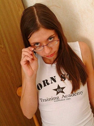 Panty pics - Hot nerdy chick resembling off her downhearted band together and her panties