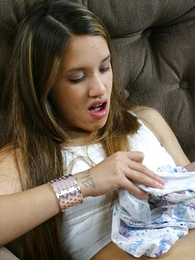 Undies galleries - Dazzling teen toddler circulation pacify wearing her soiled panty